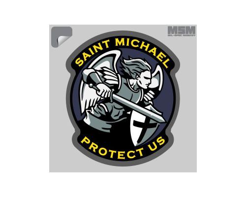 Milspec Monkey Saint Michael Sticker
