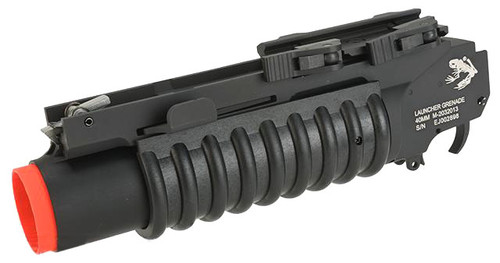 G&P Skull Frog Airsoft Quick Lock QD M203 Grenade Launcher (Color: Black)