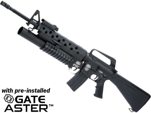 """G&P """"Scar Face"""" M16A1 VN w/ M203 Grenade Launcher Airsoft AEG Rifle and GATE ASTER Programmable MOSFET"""