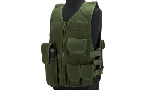 Matrix Childrens Size Tactical Zipper Vest w/ Integrated Magazine Pouche
