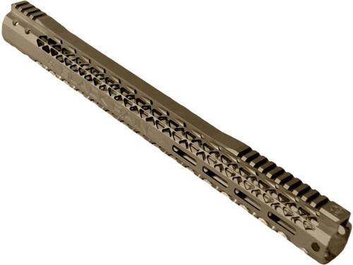 "Black Rain Ordnance Slim M-LOK Handguard for AR15 Style Rifles (Color: Flat Dark Earth / 17.76"")"