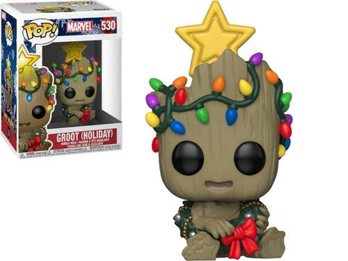 Funko POP! Marvel Holiday Groot Bobble Head