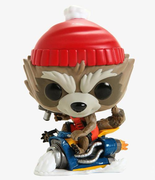 Funko POP! Marvel Holiday Rocket Bobble Head