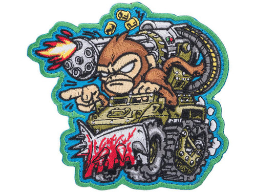 """Mil-Spec Monkey """"War Machine Monkey 1"""" Embroidered Morale Patch (Color: Full Color / Blue Background)"""