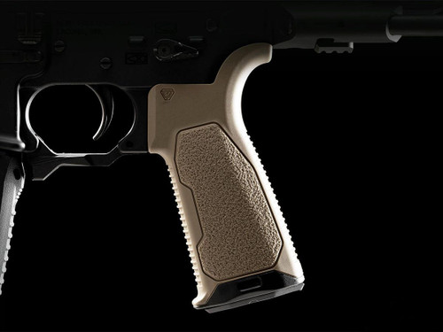 Strike Industries AR Overmolded Enhanced Pistol Grip (Model: 15 Degrees / Flat Dark Earth)