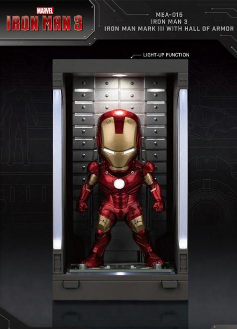 Beast Kingdom Iron Man 3 Mk VII Iron Man Suit Figure w/ Hall of Armor Display Case