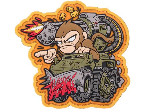 "Mil-Spec Monkey ""War Machine Monkey 1"" PVC Morale Patch (Color: Full Color / Yellow Background)"