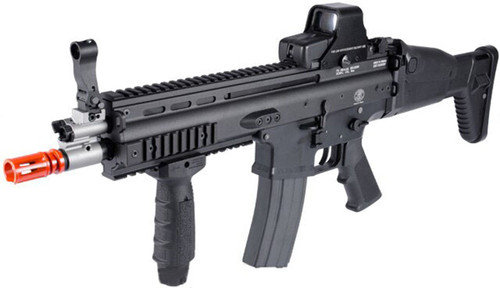 FN Licensed Open Bolt SCAR-L CQC Airsoft GBB Rifle by WE (Standard Mag)