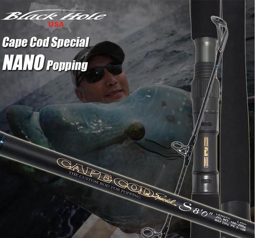 "Black Hole USA Cape Cod Special Nano Popping Rod (Length: 7'6"")"
