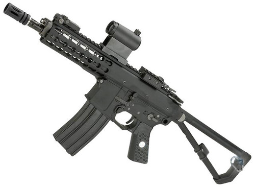 EMG Knights Armament Airsoft PDW M2 Compact Gas Blowback Airsoft Rifle (Model: 400FPS / Co2 Magazine)