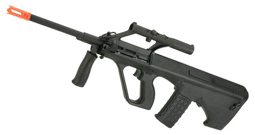 GHK Gas Blowback AUG A1 Airsoft Rifle with Integrated Optic