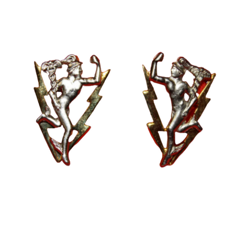 Canadian Armed Forces Communications and Electronics Branch Collar Badge (Pair)