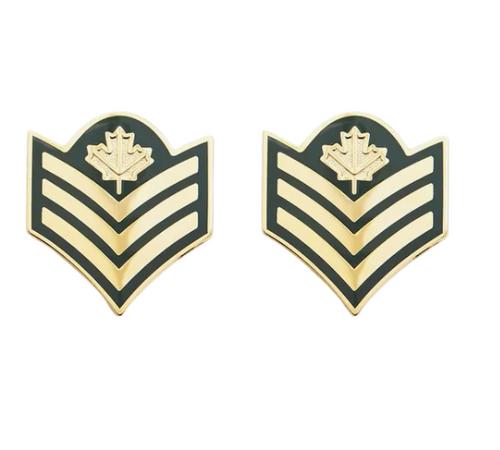 DEU Collar Rank Pins Sergeant (Pair)
