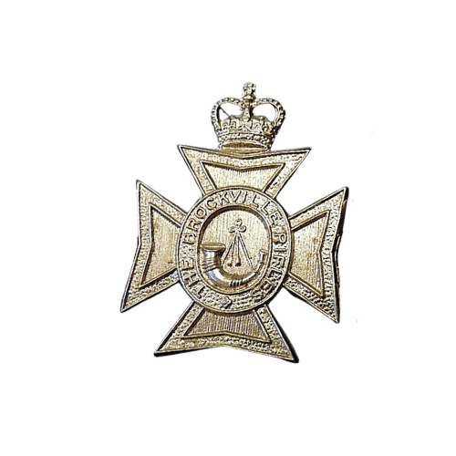 Canadian Armed Forces Brockville Rifles Queen's Crown Cap Badge