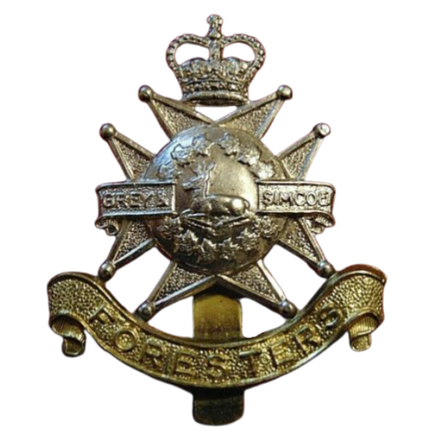 Canadian Armed Forces Grey & Simcoe Foresters Cap Badge