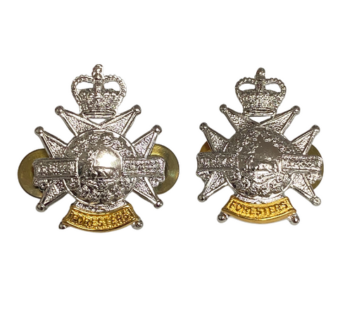 Canadian Armed Forces Grey & Simcoe Foresters Collar Badge (Pair)