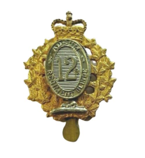 12e Regiment Blind De Canada Cap Badge