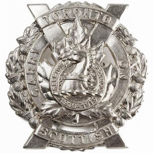 Canadian Army Toronto Scottish Regiment Cap Badge