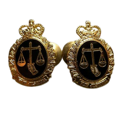 Canadian Armed Forces Legal Branch Collar Badge (Pair)