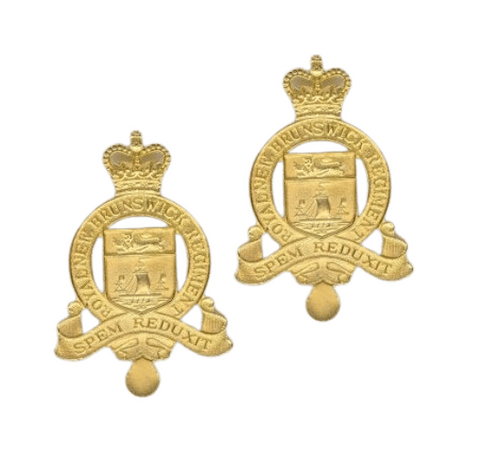 Canadian Armed Forces - Royal New Brunswick Regiment Collar Badge (Pair)