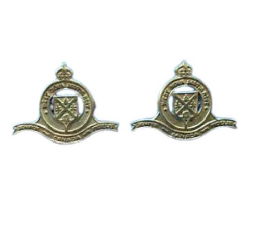 Canadian Armed Forces The West Nova Scotia Regiment Collar Badge (Pair)