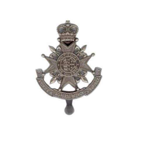 Canadian Armed Forces Les Voltigeurs De Quebec Cap Badge