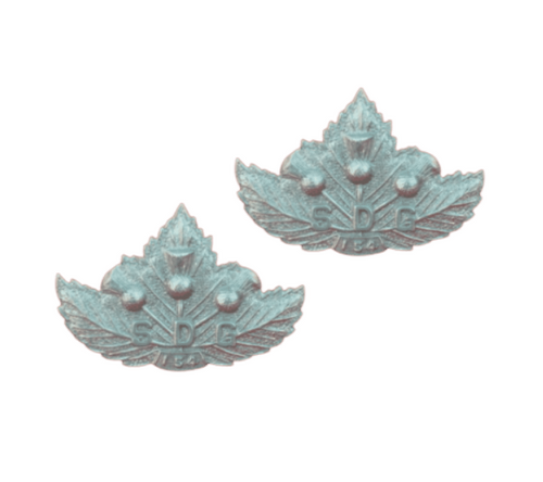 Canadian Armed Forces Stormant, Dundas & Glengarry Highlanders Collar Badge (Pair)