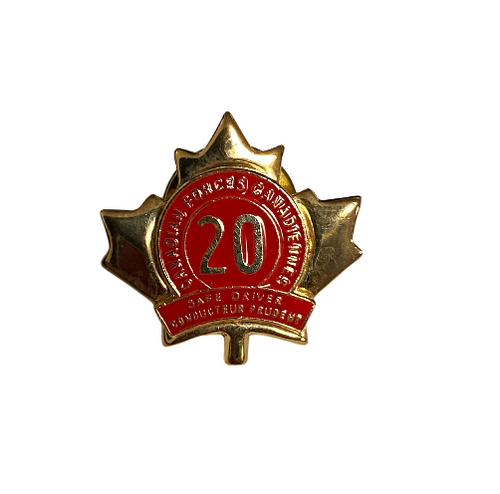 Canadian Armed Forces - Safe Driver Award 20 Years Pin