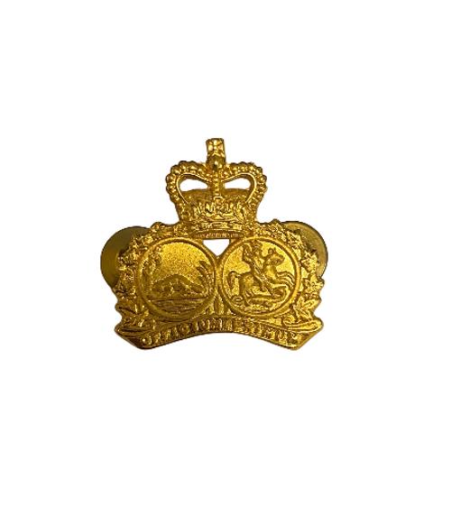 Canadian Armed Forces - Elgin Regiment 'Officium Primum' Collar Badge (Pair)