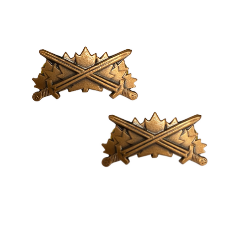 Canadian Armed Forces Warrior Collar Badge (Pair)