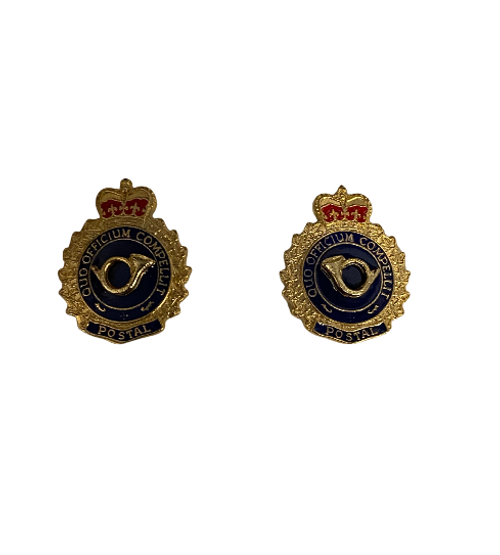 Canadian Armed Forces Postal Branch Collar Badge (Pair)