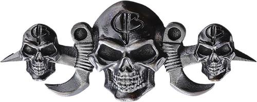Menuki Three Skulls