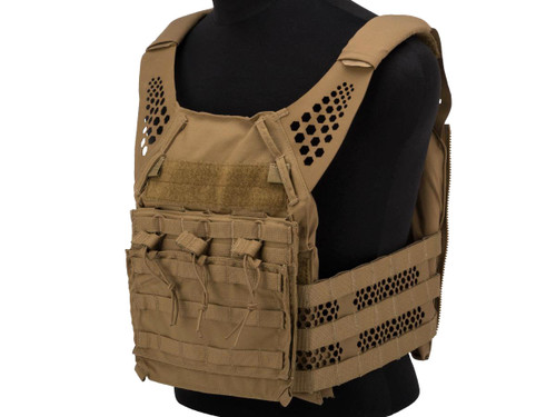 Eagle Industries Tactical Ultra Low-Vis Plate Carrier w/ Removable Front Flap (Color: Coyote Brown)