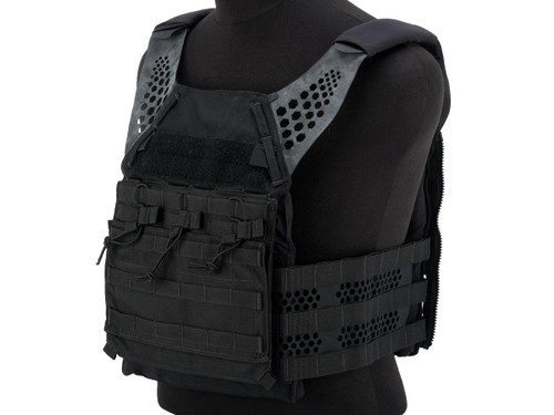Eagle Industries Tactical Ultra Low-Vis Plate Carrier w/ Removable Front Flap (Color: Black)