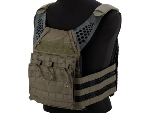 Eagle Industries Tactical Ultra Low-Vis Plate Carrier w/ Removable Front Flap (Color: Ranger Green)