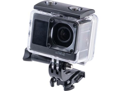 Ausek 4K 60fps Dual Screen Timed Selfie Waterproof Action Camera
