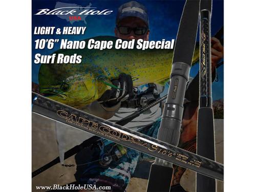 "Black Hole USA Cape Cod Special 10'6"" Nano Surf Rod (Model: Heavy)"