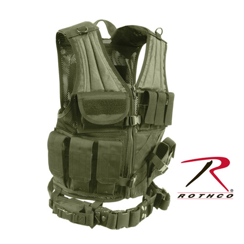 Rothco Tactical Cross Draw Vest - Olive Drab
