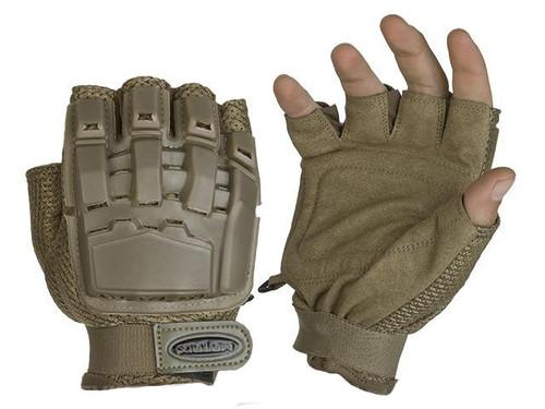 Matrix Half Finger Tactical Gloves - Tan