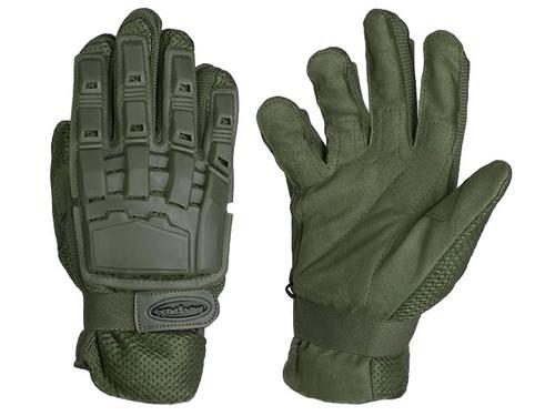 Matrix Full Finger Tactical Gloves (Color: OD Green)