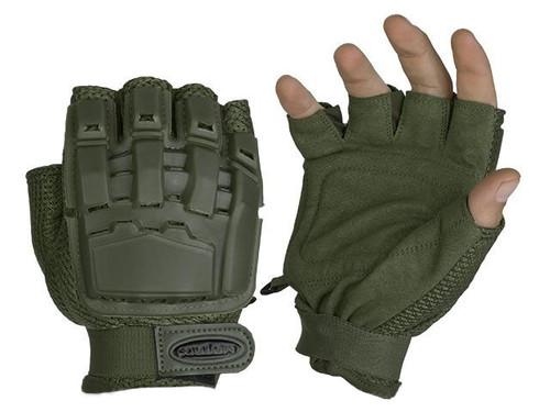 Matrix Half Finger Tactical Gloves (Color: OD Green)