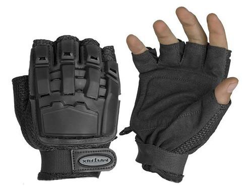 Matrix Half Finger Tactical Gloves (Color: Black)