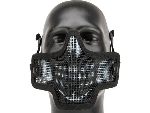 Kilo 2G Mesh Half Face Mask By Valken - Skull