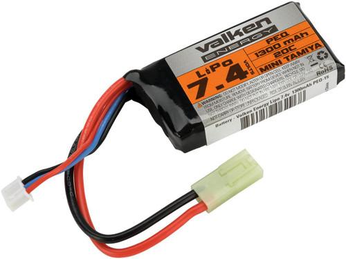 Valken Energy 7.4v 1300mAh PEQ-15 Style LiPo Battery