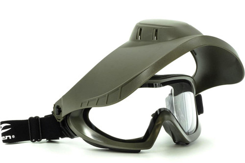 Valken VSM Switch Therm Goggles w/ Flip Down Face Shield (Color: Olive)