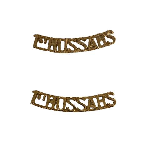 Canadian Armed Forces 1st Hussars Shoulder Title Badge (Pair)