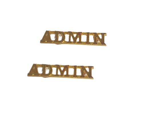 Canadian Armed Forces Admin Shoulder Title Badge (Pair)