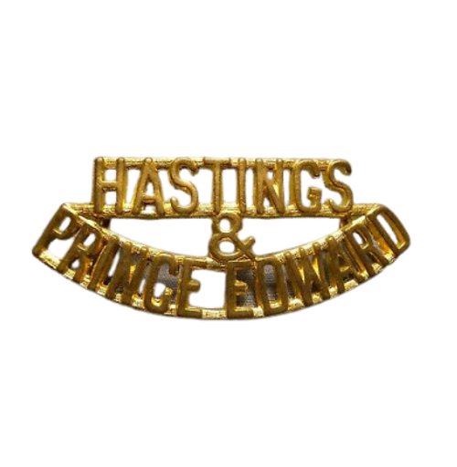 Canadian Armed Forces Hastings & Prince Edward Shoulder Title Badge (Pair)