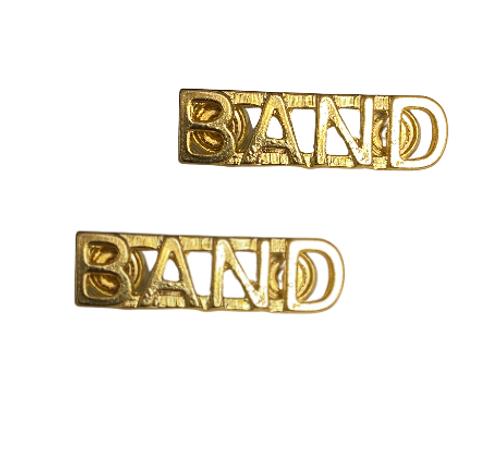 Canadian Armed Forces Band Shoulder Title Badge (Pair)