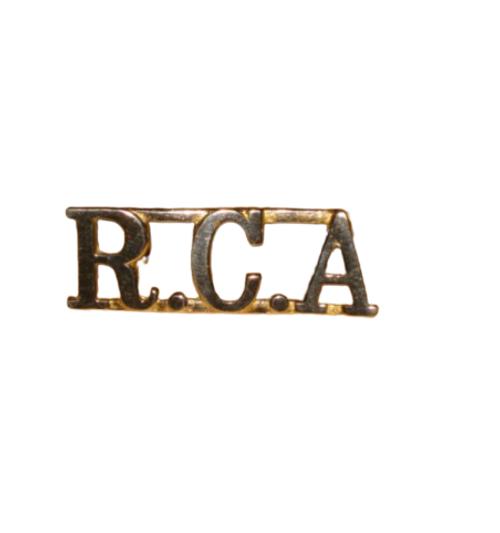 Royal Canadian Artillery Shoulder Title Badge (Pair)